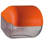 Dispenser Soft Touch di carta igienica - 15x4,8x14 cm - plastica - arancio - Mar Plast