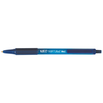 Penne a sfera a scatto Soft Feel - punta 1,0mm - blu - Bic - conf. 12 pezzi