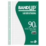 Ricambi BandUp forati rinforzati - A4 - quadretto 5mm con margine - 40 fogli - 90gr - BM