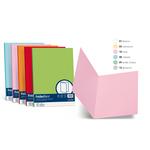 Cartelline semplici Acqua - cartoncino 200 g - 25x34 cm - rosa - Favini - conf. 50 pezzi