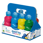 Schoolpack 8 flaconi tempera pronta acrilica - 250ml - colori assortiti - Giotto