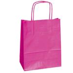 Shopper in carta - maniglie cordino - magenta - 22 x 10 x 29cm - conf. 25 shoppers