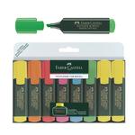 Evidenziatore Textliner 48 - punta a scalpello -  tratto 1,0-3,0-5,0mm - astuccio 6 colori - Faber Castell