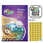 Etichetta adesiva GL4 Tico - ovale - satinata oro - 36x27 mm - 50 etichette per foglio - conf. 100 fogli A4