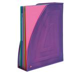 Portariviste Mesh - rete metallica - 26x8x33,5 cm - viola - Alba