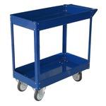 Carrello da lavoro - 2 ripiani - acciaio verniciato blu - 84x41 cm - altezza 82 cm - portata massima 100 kg - Serena Group