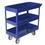 Carrello da lavoro - 3 ripiani - acciaio verniciato blu - 84x41 cm - altezza 82 cm - portata massima 100 kg - Serena Group
