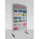 Porta avvisi Menpa da terra - 18 display A4 orizzontali - Tecnostyl
