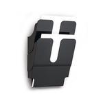 Display da muro con 2 tasche A4 nero flexiplus durable