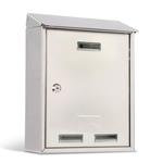 Cassetta postale Elios Steel - 30x40x15 cm - acciaio inox - Metalplus