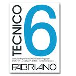 Blocco Tecnico 6 - 25x35cm - 20 fogli - 240gr - liscio - Fabriano