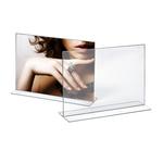Portadepliant - materiale acrilico - 21x30 cm - orizzontale - Lebez