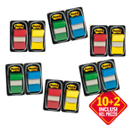 Segnapagina Post it® Index Medium - 4 colori classici - Value pack 10+2 (dispenser da 50 segnapagina ciascuno)