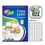 Etichetta adesiva LP4W - permanente - 37x14 mm - 100 etichette per foglio - bianco - Tico - conf. 100 fogli A4