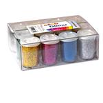 Tubetto glitter - 22gr - 5 colori assortiti - 05330 - CWR -Conf.12 pezzi