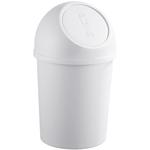 Contenitore per rifiuti Push - diametro 31,5 cm - altezza 61,5 cm - 25 L - grigio chiaro - Helit