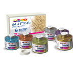 Set 6 barattoli glitter grana fine ml150 colori assortiti art 05404 cwr