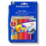 Astuccio 36 matite colorate 144 aquarell noris club staedtler