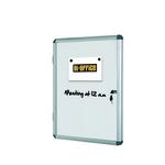 Bacheca per interni - fondo bianco magnetico - 6 fogli A4 - orizzontale - Bi Office