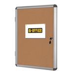 Bacheca per interni - fondo in sughero - 9 fogli A4 - verticale - Bi Office