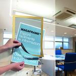 Cornice magnetica Duraframe® - A4 - 21x29,7 cm - oro - Durable