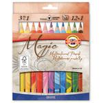 Pastelli colorati Matitoni Magic - Ø pastello 10,40mm e mina 5,6mm - Koh-I-Noor - astuccio 12 pastelli