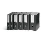 Scatola progetto Plus Vip - 34,5x24,5 cm - dorso 4 cm - grigio antracite - Fellowes
