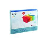 Cartelle sospese Joker - cassetto - interasse 33 cm - fondo V -  31,2x25 cm - colori assortiti - Bertesi - conf.10 pezzi