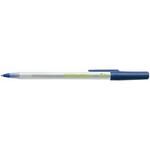 Penna a sfera a scatto con cappuccio ECOlutions - punta 1,0mm - blu  - Bic - conf. 60 pezzi