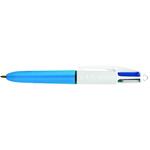 Penna a sfera a scatto 4 Colours Mini -nero, blu, rosso, verde - punta 1,0mm - Bic - scatola 12 penne