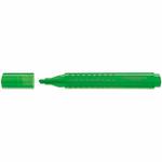 Evidenziatore Grip 1543 - punta a scalpello - tratto 1,0-2,0-5,0mm - colore verde - Faber Castell