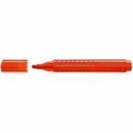 Evidenziatore Grip 1543 - punta a scalpello - tratto 1,0-2,0-5,0mm - colore arancione - Faber Castell