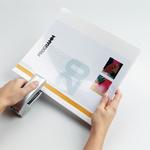 Cartellina per rilegatura Durabind - PVC - 21x29,7 cm - bianco - Durable
