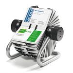 Portabiglietti da visita Visifix® Rotary - 400 posti - 19,5x19x12 cm - silver - Durable