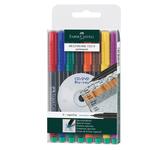 Pennarello Multimark universale permanente con gomma - punta superfine 0,4mm - astuccio 8 colori - Faber Castell