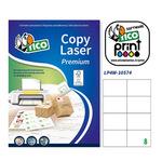 Etichetta adesiva LP4W Tico - bianco - 105x74 mm - 8 etichette per foglio - conf. 100 fogli A4