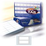 Etichette a modulo continuo Tico TAB 1 - 72x23.5 mm - corsia singola - scatola da 6000 etichette