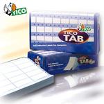 Etichette a modulo continuo Tico TAB 3 - 72x23,5 mm - corsia tripla - permanente - bianco - Tico - scatola da 18000 etichette