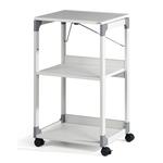 Carrello System - 50,8x43,2x88,2 cm - 3 ripiani -  con ruote - per videoproiettore - grigio - Durable