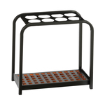 Portaombrelli Multi - 8 posti - 52x26x54 cm -  nero/acciaio - Medial International