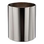 Cestino gettacarte Getsi - diametro 23 cm - altezza 28 cm - 12,5 litri - inox brillante - Medial International
