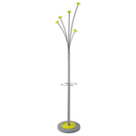 Appendiabiti con portaombrelli - 5 posti - 187x38 cm - verde - Alba