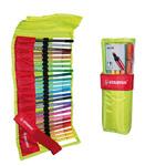 Pennarello Pen 68 Astucci e Rotoli - 25 colori assortiti - rotolo 25 pennarelli - Stabilo