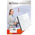 Copertine rilegatura - A3 - 180 micron - PVC - neutro trasparente - Titanium - scatola 100 pezzi