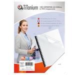 Copertine rilegatura - A4 - 250 micron - PVC - neutro trasparente - Titanium - scatola 100 pezzi
