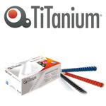 Dorsi spirale - 21 anelli - plastica - 6 mm - rosso - Titanium - scatola 100 pezzi