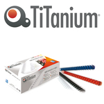 Dorsi spirale - 21 anelli - plastica - 14 mm - blu - Titanium - scatola 100 pezzi