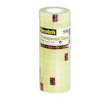 Nastro adesivo Scotch® 550 - 19 mm x 66 mt - trasparente - Scotch® -  torre 8 rotoli