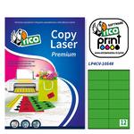 Etichetta adesiva LP4C - permanente - 105x48 mm - 12 etichette per foglio - verde opaco - Tico - conf. 70 fogli A4
