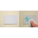 Etichette magnetiche - scrivibili e cancellabili -  permanente - 30x100 mm - bianco - Markin - blister da 20 etichette